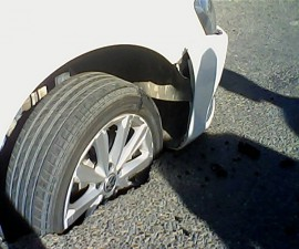 Под Вашим авто провалился асфальт